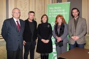 El responsable de la Fundación Rubio en Valencia con representantes del colegio de farmacéuticos/vlcciudad