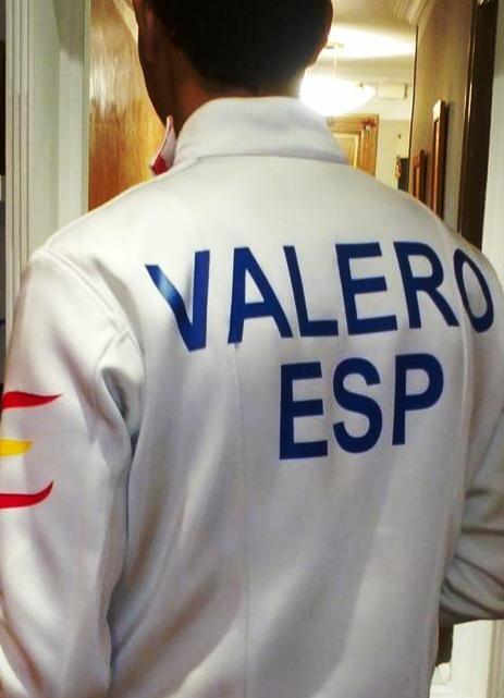 Fran Valero con la equipación para competir en el Europeo/sav