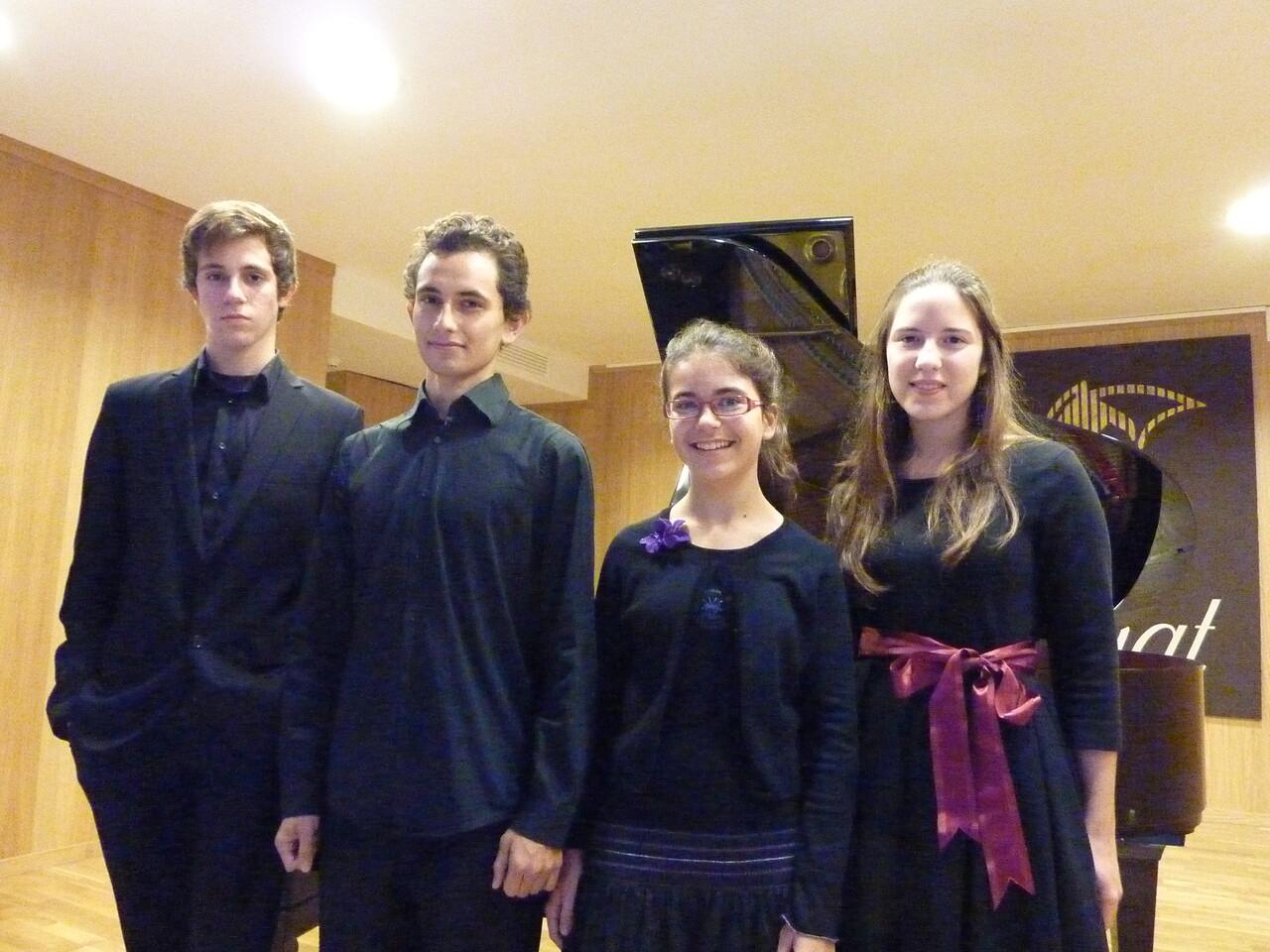 Los ganadores del concurso de piano de 2012