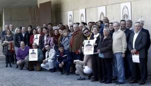 Foto de familia en el acto de la presentación que ha tenido lugar hoy/avan-alberto saiz