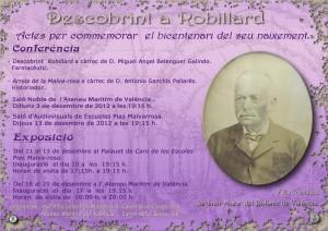 Cartel oficial de los actos dedicados al fundador del barrio de la Malvarrosa/ateneo marítimo