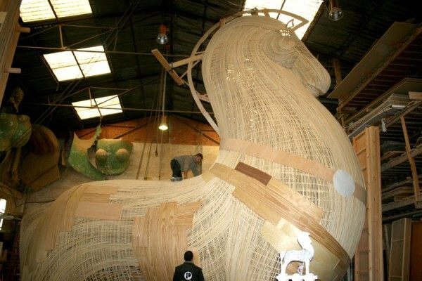 Remate del Caballo de Troya, Na Jordana 2013, en el taller de Manolo García