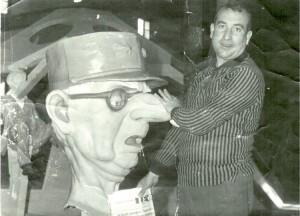 El artista Ricrdo Rubert, en una imagen de la época