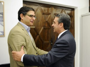 Visita del gerente del Consorcio y el diputado de Turismo de la Diputación de Valencia/Consorcio Camino de El Cid