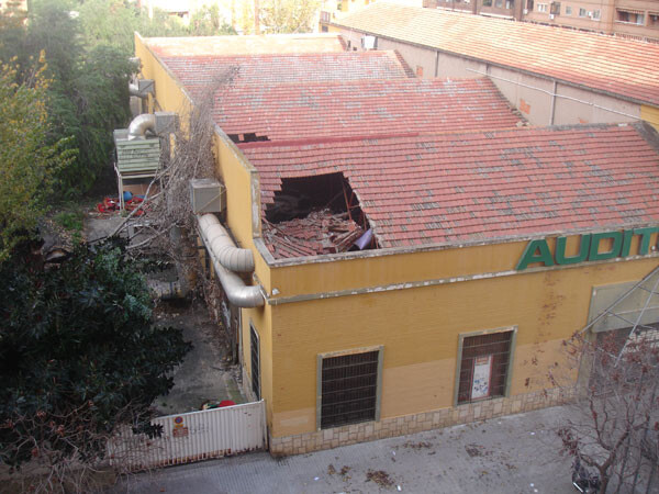 El tejado de La Patatera ya sufrió derrumbamientos anteriormente
