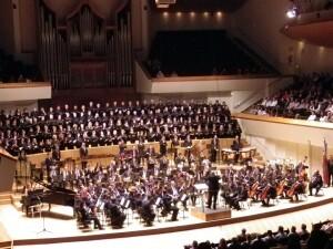 El Ateneo Musical del Puerto en el estreno de la obra en el Palau/vocesdecuenca