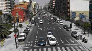 La avenida del Puerto cruce con Manuel Candela