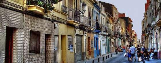 Una calle del barrio del Canyamelar