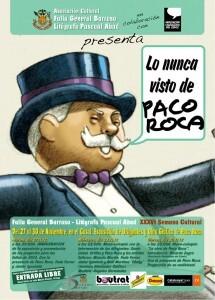 Cartel de la Semana Cultural de General Barroso dedicada a Paco Roca