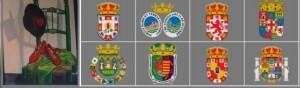 Símbolo de la Casa de Andalucía y escudos de las ocho provincias