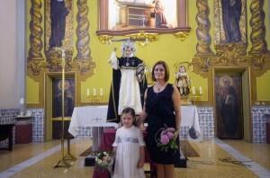 Las clavariesas del Altar del Ángel Custodio que hoy reciben las medallas/altar angel custodio