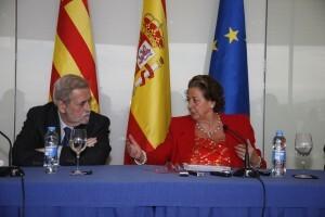 Vela, Beteta y Barberá escenificaron ayer la sintonía entre las tres administraciones/ayto vlc