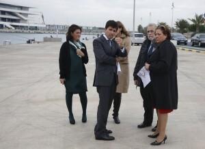 Los representantes en el Consorcio durante la visita a la Marina/ayto vlc