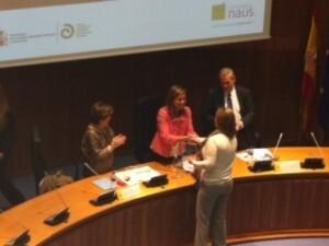 La edil Lourdes Bernal recoge el galardón en el Ministerio de Sanidad/ayto