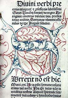 Portada del incunable del siglo XV con el texto íntegro del Compromiso de Caspe/jcv
