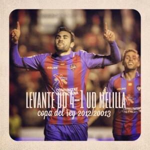 El Levante U.D. pasa a octavos tras ganar 4-1 al Melilla/levante