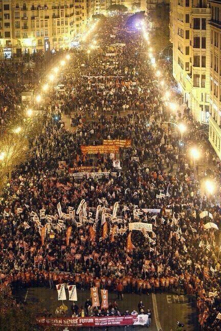 Un vista de la asistencia a la manifestación