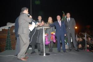 El momento del encendido de la iluminación navideña de 2012/N.Centro