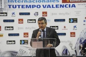 El concejal de Deportes, Cristóbal Grau, en la presentación/ayto vlc