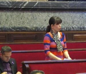 La edil Rosa Albert en una intervención durante el pleno/eu