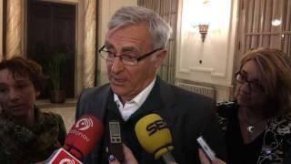 Joan Ribó realiza declaraciones antes del inicio de un pleno del ayuntamiento
