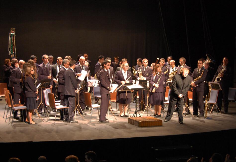 La Sociedad Musical Poblados Marítimos en una actuación pasada en las Atarazanas