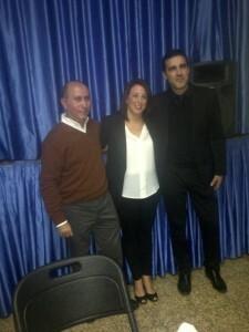 El premiado con el Periodista Gil Sumbiela, Boro Peiró, con el presidente y la fallera mayor de la comisión/vlcciudad