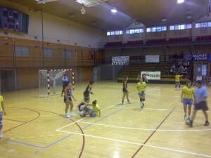 El Valencia Aicequip en el polideportivo del Cabanyal