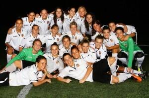 El equipo de las femeninas del Valencia CF