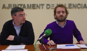 Salvador Broseta en la rueda de prensa junto al edil Pedro M.Sánchez/gmsaytovlc