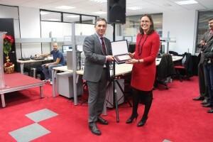 Sofía Bellés inaugura el Centro de Servicios de Valencia de Sopra Group