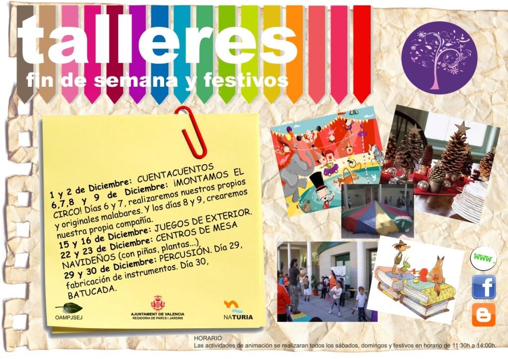 Cartel con las actividades previstas los fines de semana de este mes en NaTuria