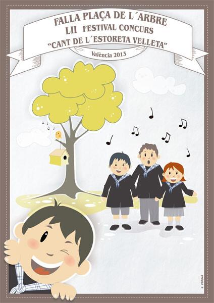 Cartel anunciador del Cant de l'Estoreta Velleta 2013