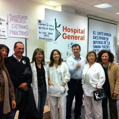 Un grupo de trabajadores del Hospital General/csif