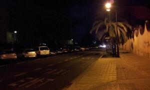 La zona del Hospital se queda a oscuras desde hace varias semanas/CCRHF