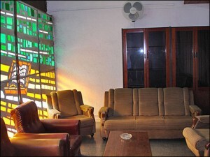 Una zona del albergue de La Paz