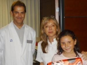 El pediatra Leandro Picó y la alergolola Valentina Gutierrez/hospital casa salud