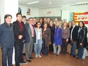 Jorge Bellver en un acto con militantes de Nuevas Generaciones/nnggvlc