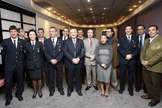 El jefe de Bomberos Julián Rodríguez recogió el premio Importante que le concedió Levante-EMV por su efemérides/levante-emv