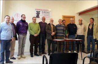 La directiva del Gremio de Campaneros Valencianos en la reunión celebrada en Campanar el pasado 1 de diciembre/campaners