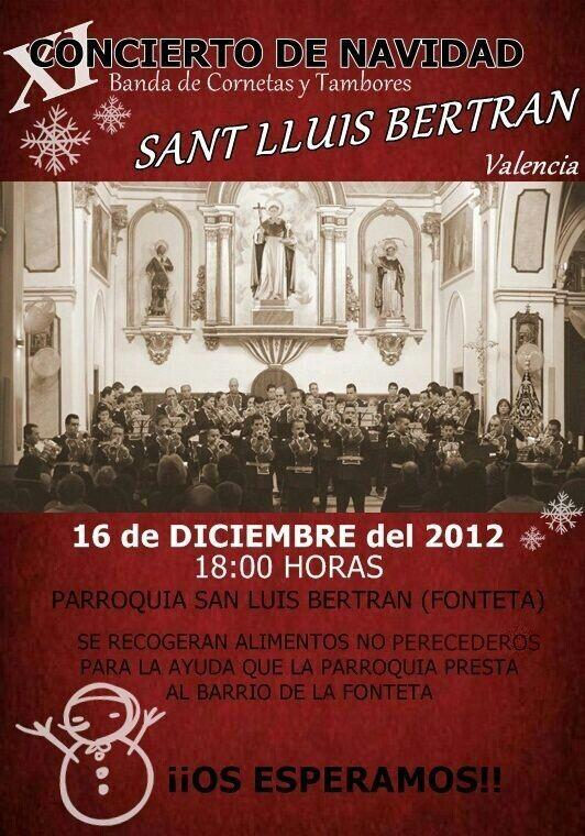 Cartel del concierto de la banda de San Lluis Bertrán/slb