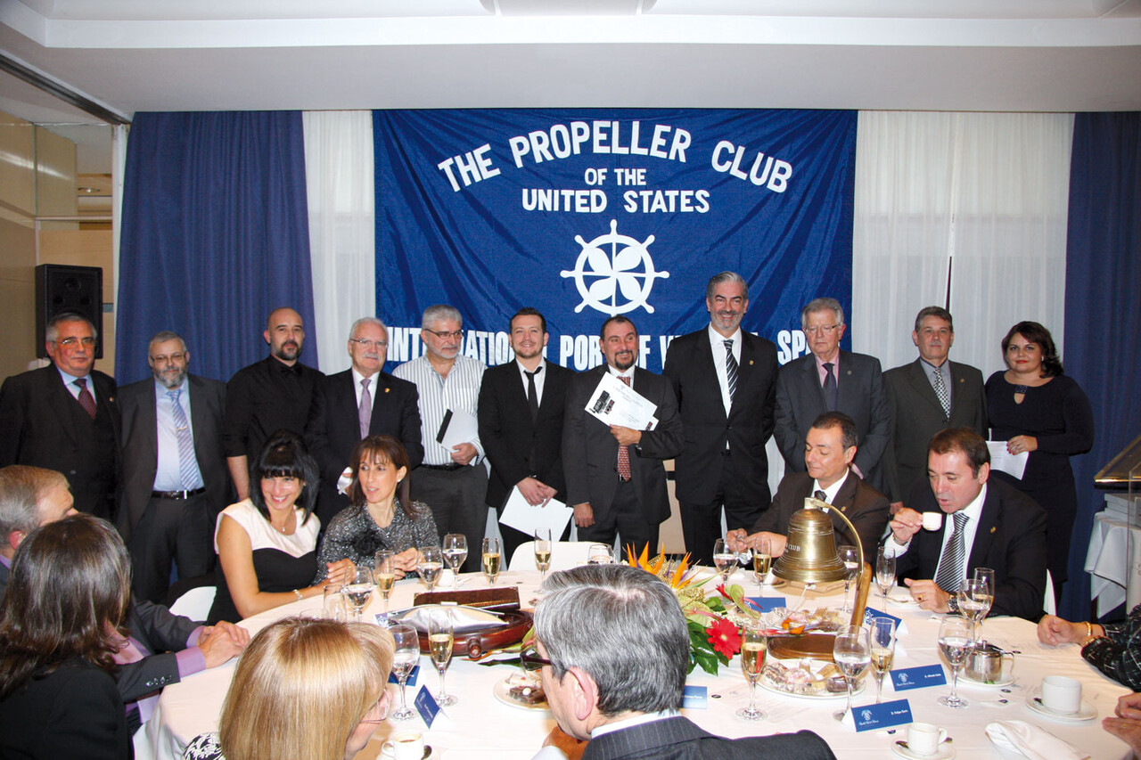 Un momento de la cena del Propeller Club/pc