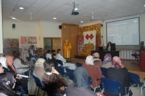 Una de las charlas de la semana de celebración en el centro/cciv