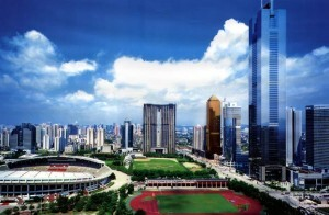 Una vista panorámica de la ciudad china