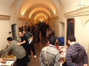 Aspecto del pasillo del segundo piso de la JCF durante la Jornada/a.part