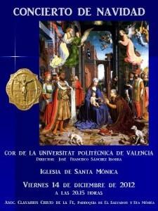 Cartel del Concierto de Navidad en Santa Mónica, 2012