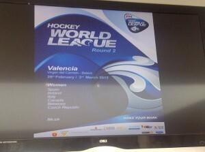 Cartel de las jornadas de hockey de la Liga Mundial Femenina/vlcciudad