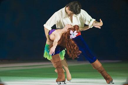 Una pareja durante el espectáculo que se podrá ver en La Fonteta/proactiv