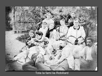 La familia Robillard en una foto tomada en el siglo XIX