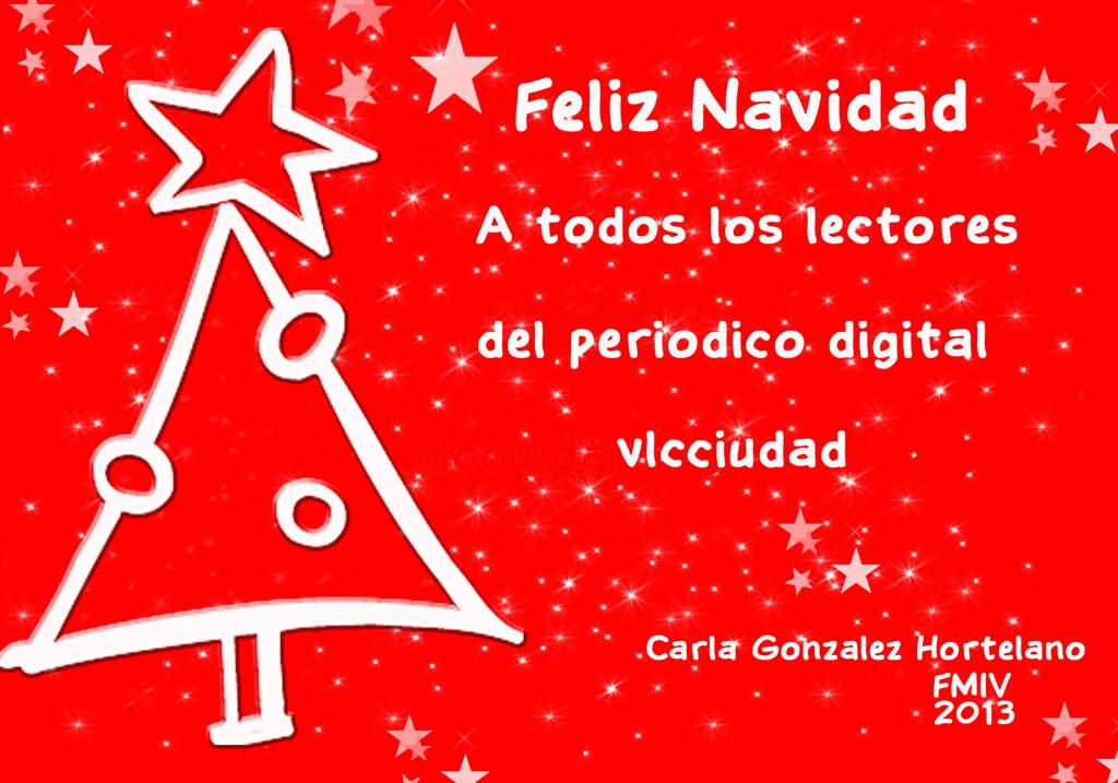 Felicitacion navideña de Carla González, Fallera Mayor Infantil de Valencia